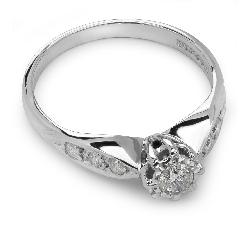 """Помолвочное кольцо с Бриллиантами """"Грациозность 7"""""""