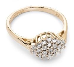 """Золотое кольцо с Бриллиантами """"Бриллиантовый цветок 15"""""""