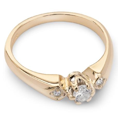 """Помолвочное кольцо с бриллиантами """"Трилогия 5"""""""