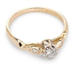 """Saderināšanās gredzens ar briljantiem """"Triloģija 6"""""""