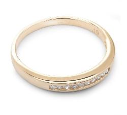 """Золотое кольцо с Бриллиантами """"Алмазная полоска 16"""""""