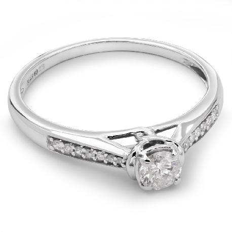 """Помолвочное кольцо с алмазами """"Грациозность 30"""""""