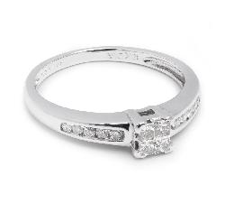 """Saderināšanās gredzens ar Dimantiem """"Princeses 15"""""""