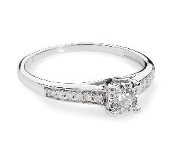 """Помолвочное кольцо с алмазами """"Грациозность 31"""""""