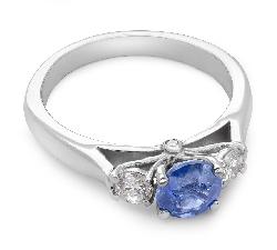 """Золотое кольцо с драгоценными камнями """"Незабываемый 3"""""""