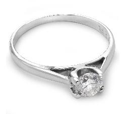 """Помолвочное кольцо с бриллиантом """"Богиня 22"""""""