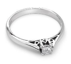 """Saderināšanās gredzens ar briljantu """"Princese 12"""""""