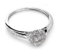 """Помолвочное кольцо с бриллиантами """"Бриллиантовый букет 5"""""""
