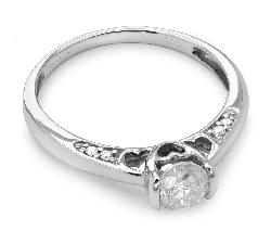 """Помолвочное кольцо с Бриллиантами """"Грациозность 32"""""""