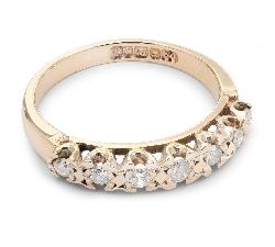 """Золотое кольцо с Бриллиантами """"Алмазная полоска 17"""""""