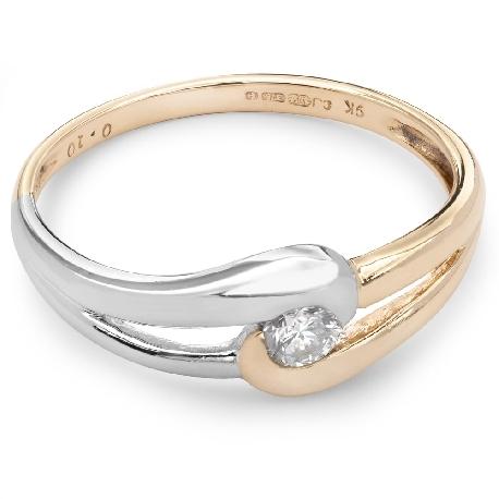 """Помолвочное кольцо с бриллиантом """"Объятная 12"""""""