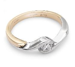 """Saderināšanās gredzens ar briljantu """"Apskautā 13"""""""