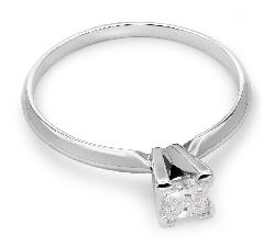 """Помолвочное кольцо с бриллиантом """"Прочность 40"""""""