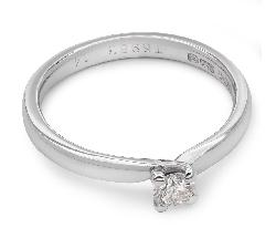 """Помолвочное кольцо с бриллиантом """"Вихрь 4"""""""