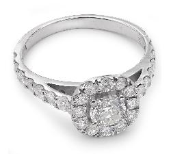 """Помолвочное кольцо с бриллиантами """"Бриллиантовый букет 7"""""""