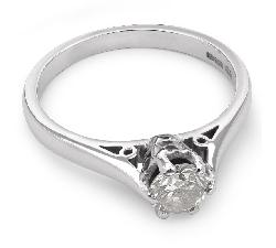 """Помолвочное кольцо с бриллиантом """"Единственная 12"""""""