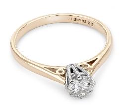 """Помолвочное кольцо с бриллиантом """"Единственная 13"""""""