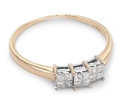 """Помолвочное кольцо с бриллиантом """"Принцессы 18"""""""