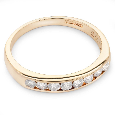 """Помолвочное кольцо с бриллиантами """"Алмазная полоска 18"""""""