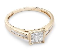 """Помолвочное кольцо с алмазами """"Принцессы 19"""""""