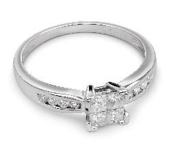 """Помолвочное кольцо с алмазами """"Принцессы 20"""""""