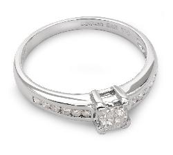 """Помолвочное кольцо с алмазами """"Принцессы 21"""""""