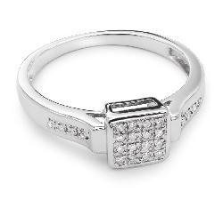 """Saderināšanās gredzens ar dimantiem """"Princeses 22"""""""