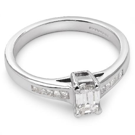 """Помолвочное кольцо с алмазами """"Незабываемый 4"""""""