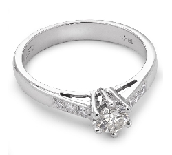 """Помолвочное кольцо с бриллиантами """"Незабываемый 5"""""""
