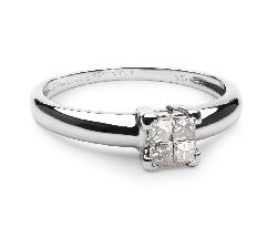 """Помолвочное кольцо с алмазами """"Принцессы 24"""""""