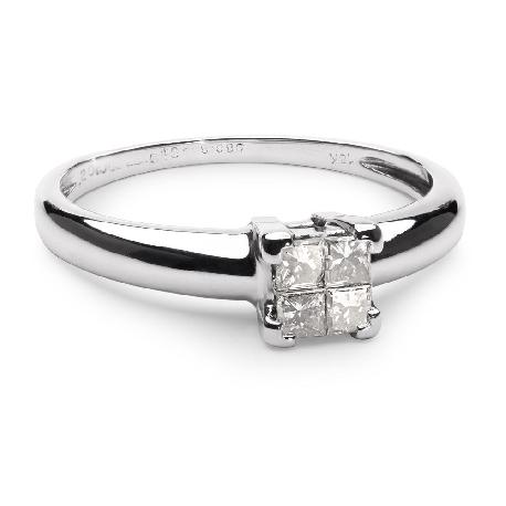 """Saderināšanās gredzens ar dimantiem """"Princeses 24"""""""