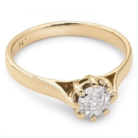 """Saderināšanās gredzens ar briljantu """"Mīļais 15"""""""