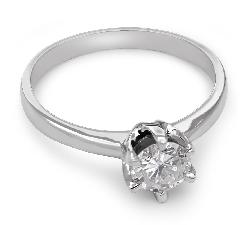 """Помолвочное кольцо с бриллиантом """"Незабываемый 7"""""""