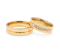 """Золотые обручальные кольца с бриллиантами """"VMA 116"""""""