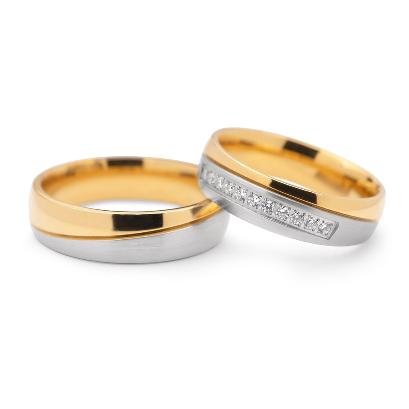 """Laulību gredzeni ar dimantiem """"VKA 110"""""""