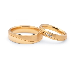 """Laulību gredzeni ar dimantiem """"VKA 106"""""""