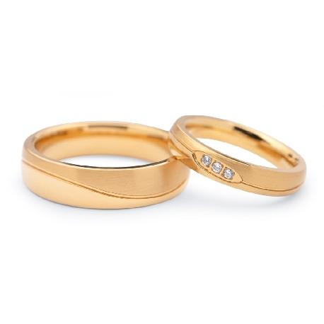 "Zelta laulību gredzeni ""VKA 106"""