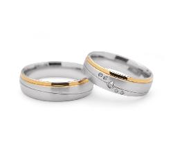 """Золотые обручальные кольца с бриллиантами """"VMA 103"""""""