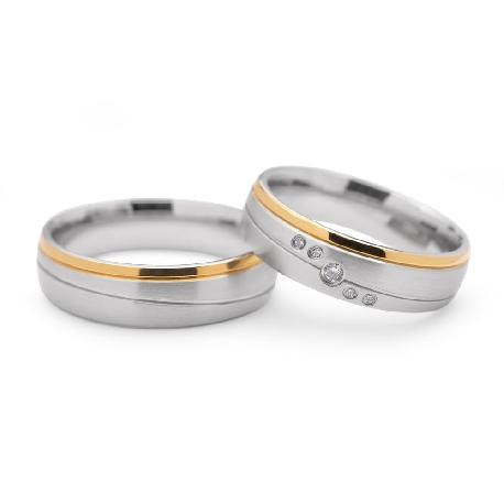 """Laulību gredzeni ar dimantiem """"VMA 103"""""""
