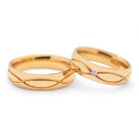 """Laulību gredzeni ar dimantiem """"VKA 098"""""""