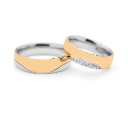 """Laulību gredzeni ar dimantiem """"VKA 097"""""""
