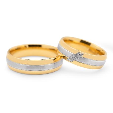 """Laulību gredzeni ar dimantiem """"VKA 096"""""""