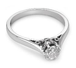 """Помолвочное кольцо с бриллиантом """"Единственная 48"""""""