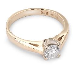 """Помолвочное кольцо с бриллиантом """"Богиня 24"""""""