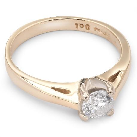 """Saderināšanās gredzens ar briljantu """"Dieviete 24"""""""