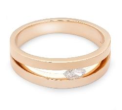 """Помолвочное кольцо с алмазом """"Объятная 14"""""""