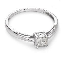 """Помолвочное кольцо с алмазами """"Принцессы 25"""""""