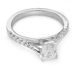 """Помолвочное кольцо с алмазами """"Грациозность 34"""""""