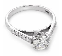 """Золотое кольцо с Бриллиантами """"Незабываемый 8"""""""