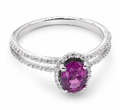 """Золотое кольцо с драгоценными камнями """"Рубин 7"""""""